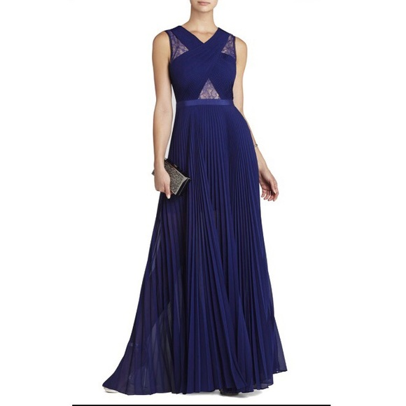 0d01ab5580de BCBGMaxAzria Dresses | Bcbg Caia Chiffon Pleated Gown | Poshmark